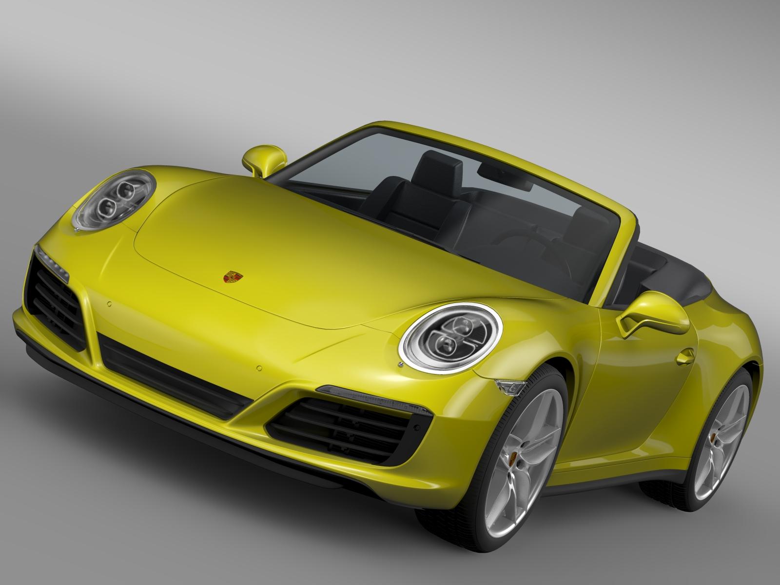 porsche 911 carrera s cabriolet 991 2016 3d model 3ds max fbx c4d lwo ma mb hrc xsi obj 219279