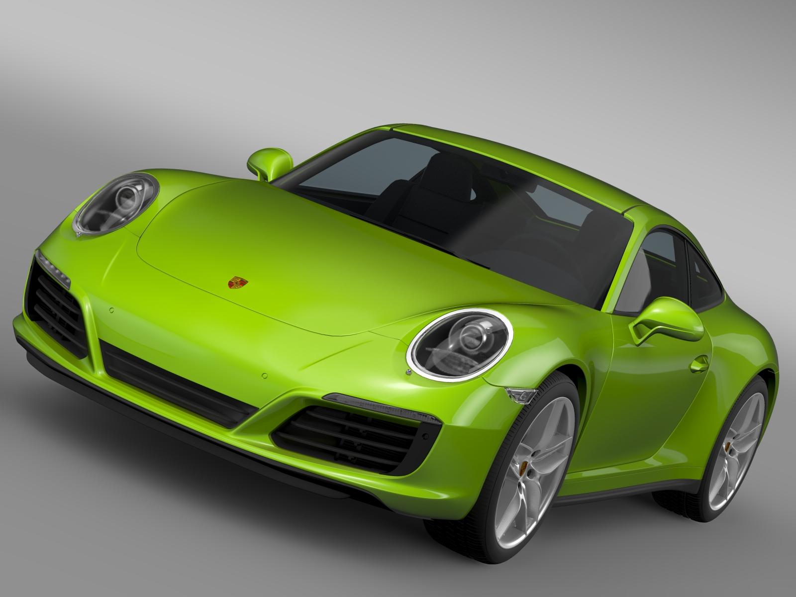 porsche 911 carrera s coupe 991 2016 3d model 3ds max fbx c4d lwo ma mb hrc xsi obj 219299