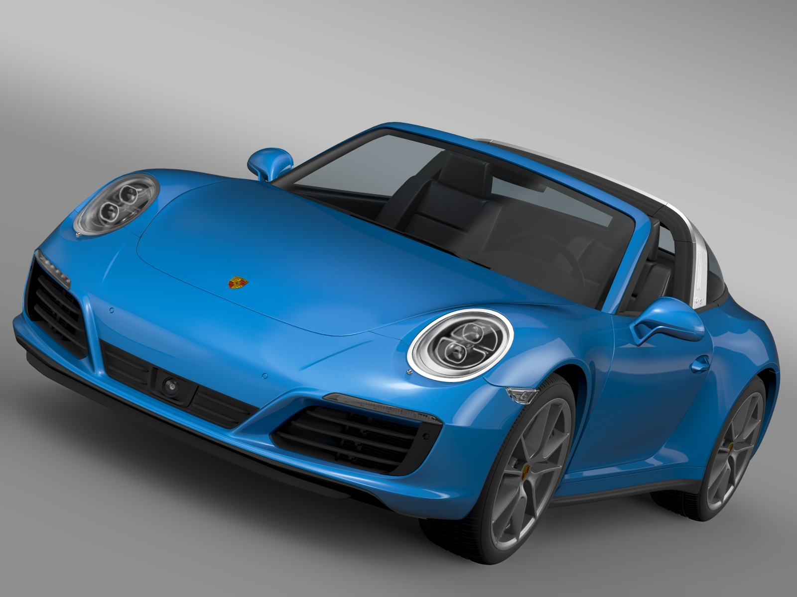 porsche 911 targa 4 991 2016 3d model 3ds max fbx c4d lwo ma mb hrc xsi obj 219319