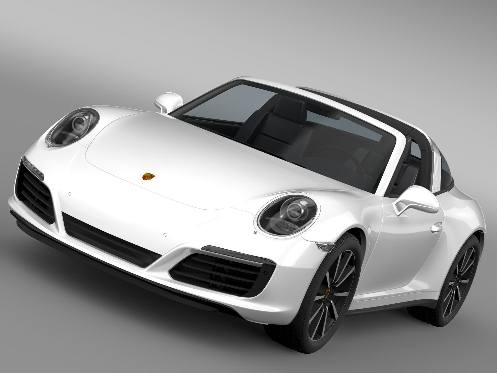 porsche 911 targa 4s 2016 3d model 3ds max fbx c4d