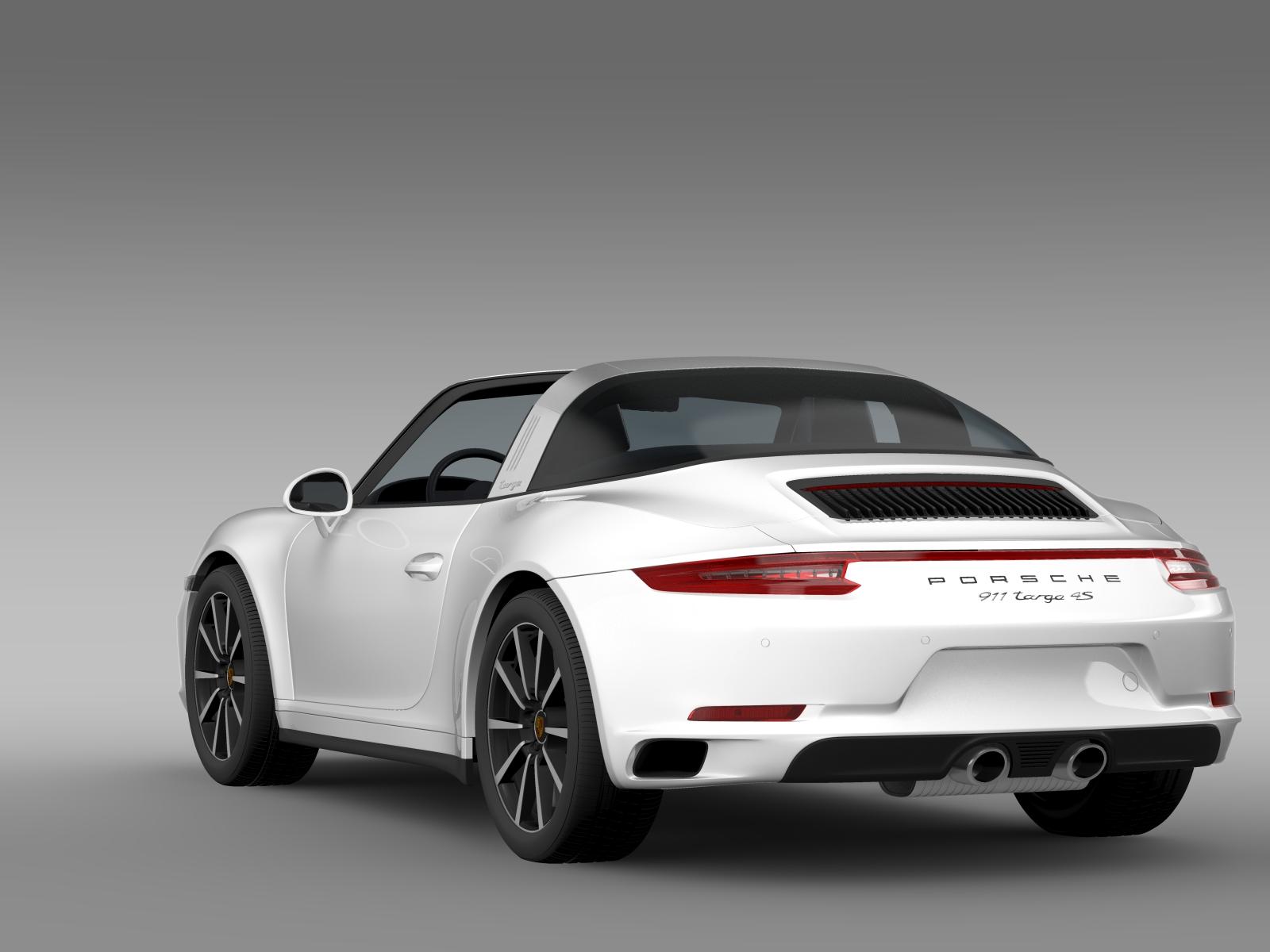 porsche 911 targa 4s 991 2016 3d model buy porsche 911. Black Bedroom Furniture Sets. Home Design Ideas