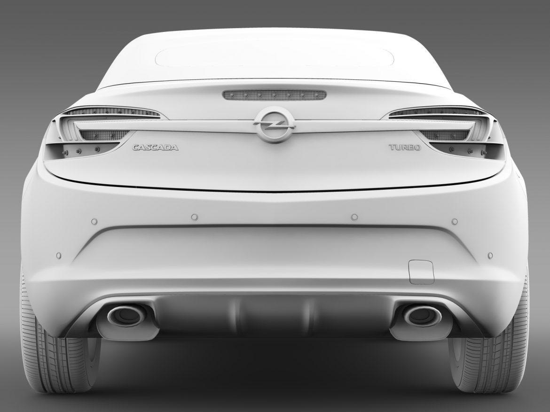 opel cascada turbo 2016 3d model 3ds max fbx c4d lwo ma mb hrc xsi obj 219473