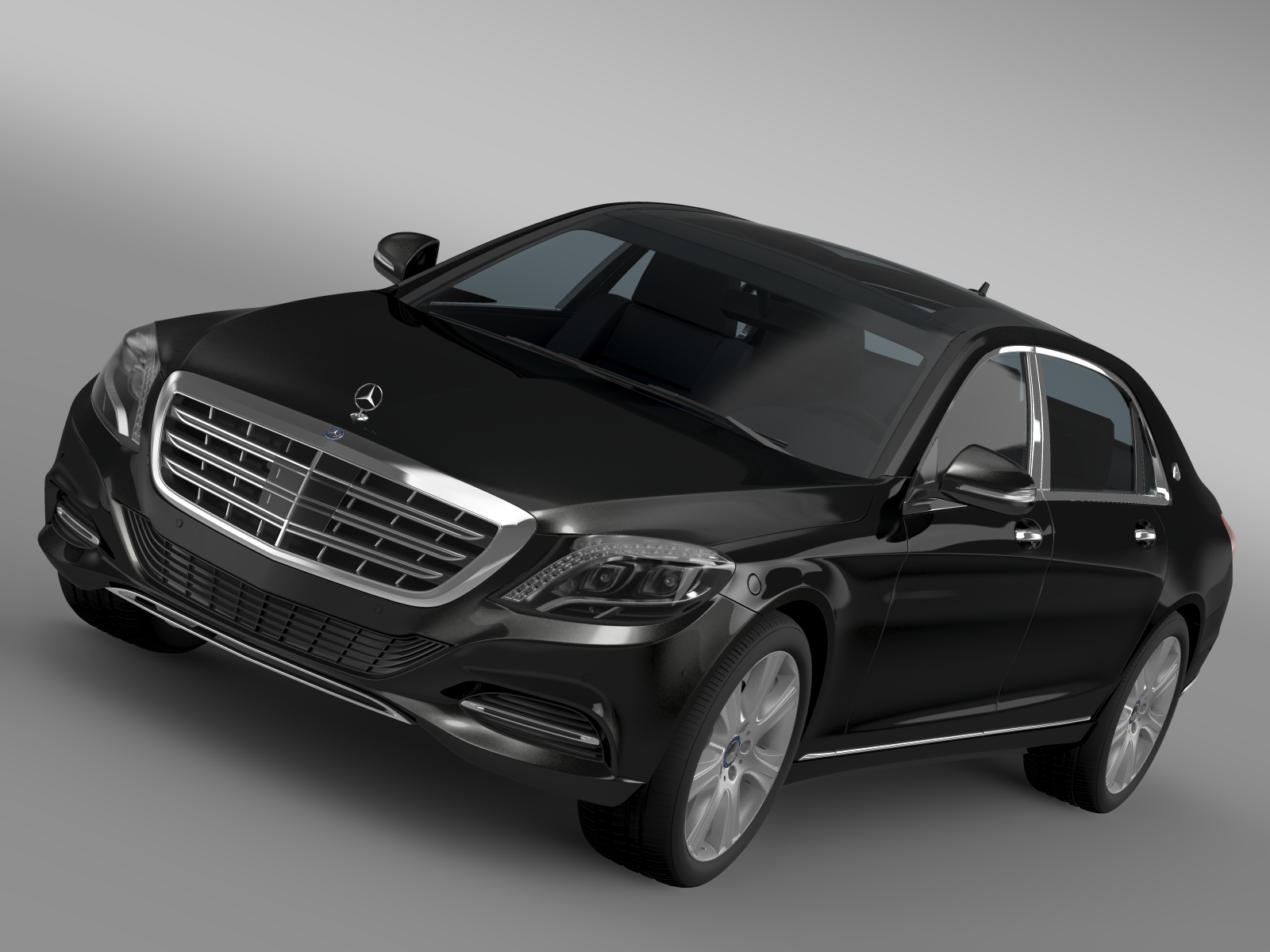 mercedes maybach guard s600 x222 2016 3d model 3ds max fbx c4d lwo ma mb hrc xsi obj 219540