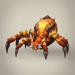 Game Ready Fantasy Spider 3d model 3ds max fbx c4d lwo lws lw ma mb obj