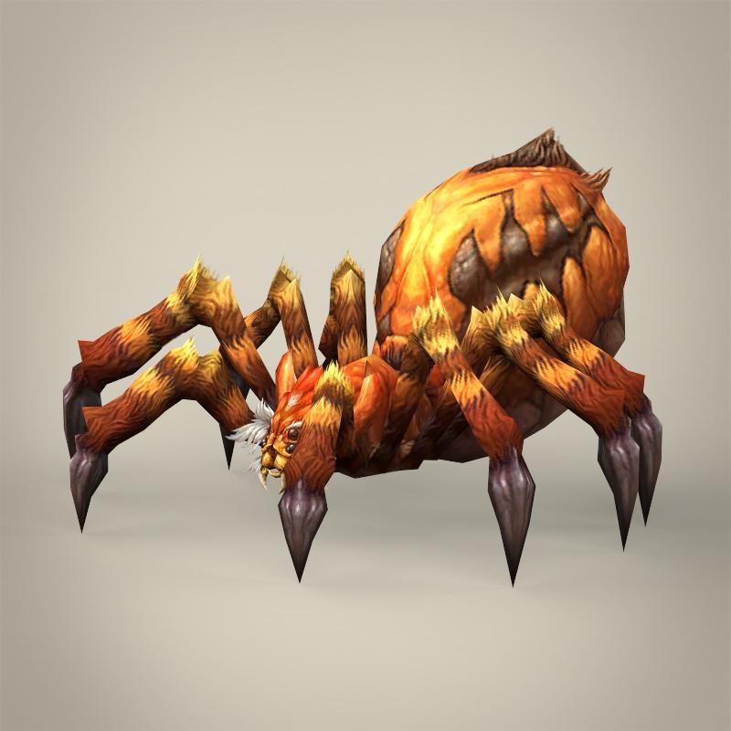 game ready fantasy spider 3d model 3ds max fbx c4d lwo ma mb obj 219781