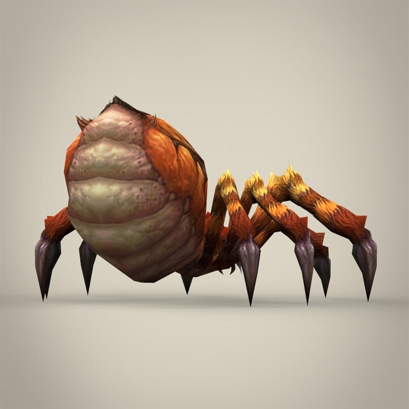 game ready fantasy spider 3d model 3ds max fbx c4d lwo ma mb obj 219784