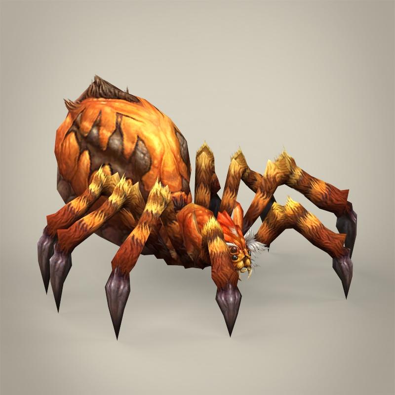 game ready fantasy spider 3d model 3ds max fbx c4d lwo ma mb obj 219785