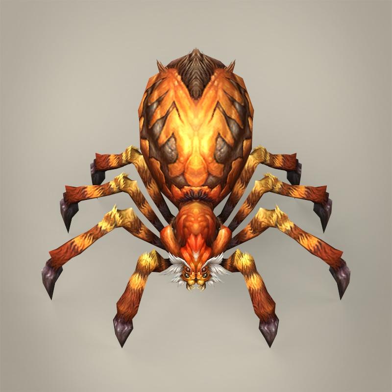 game ready fantasy spider 3d model 3ds max fbx c4d lwo ma mb obj 219786