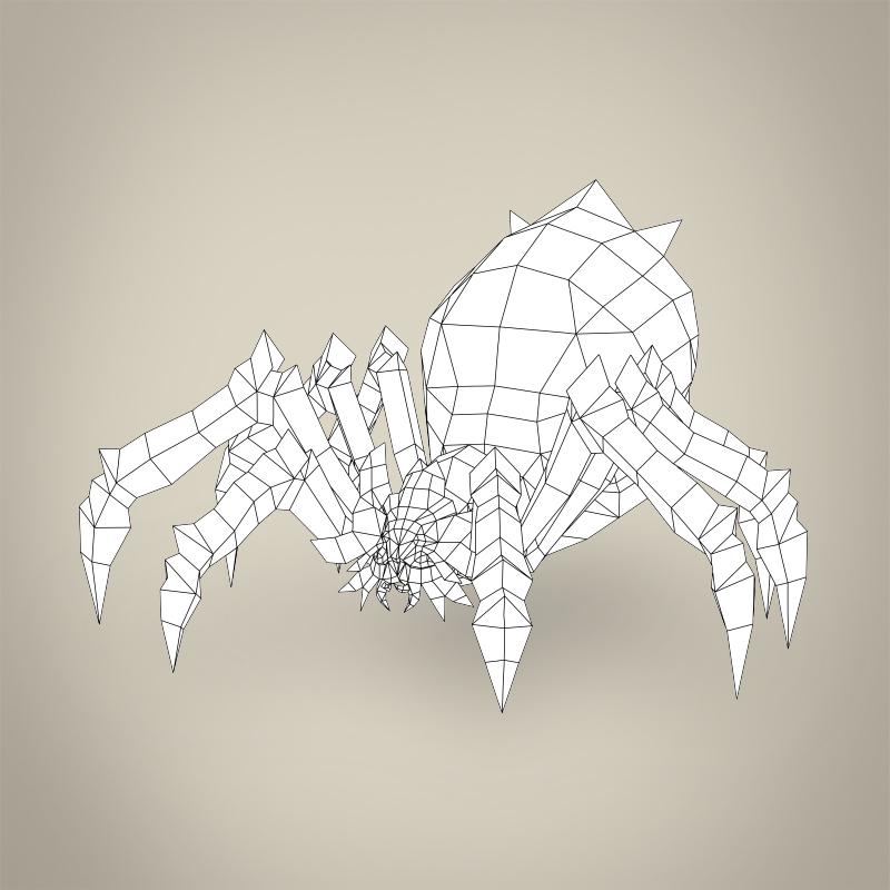 game ready fantasy spider 3d model 3ds max fbx c4d lwo ma mb obj 219787