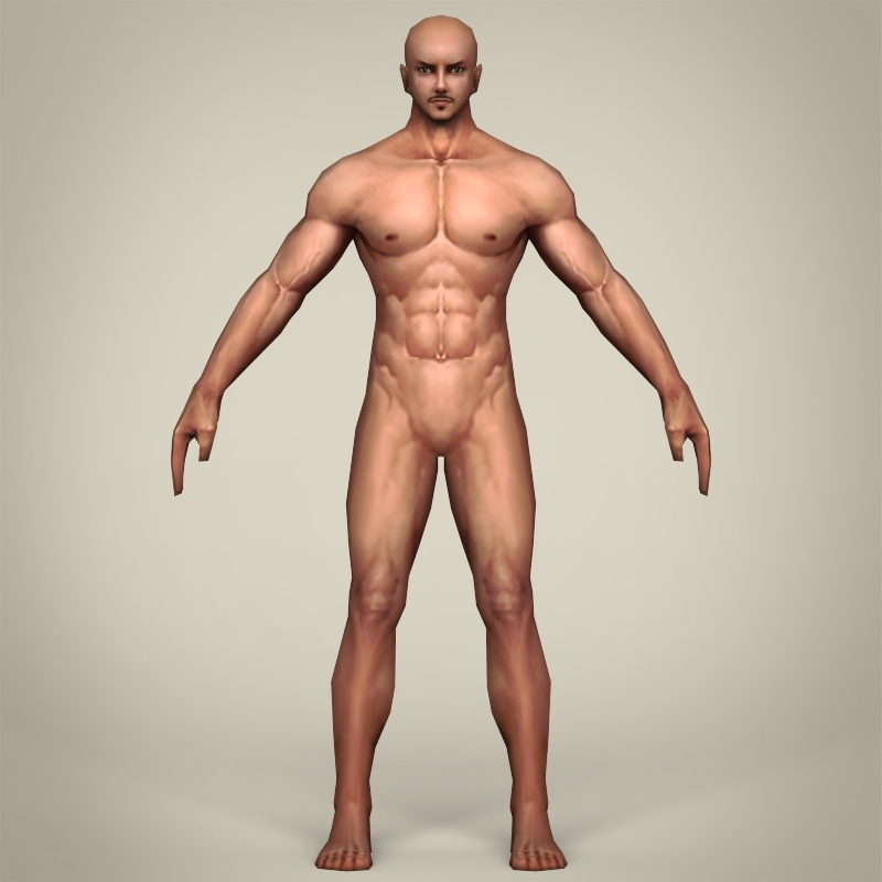 game ready realistic man 3d model 3ds max fbx c4d lwo ma mb obj 219789