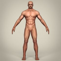 Game Ready Realistic Man 3d model 0