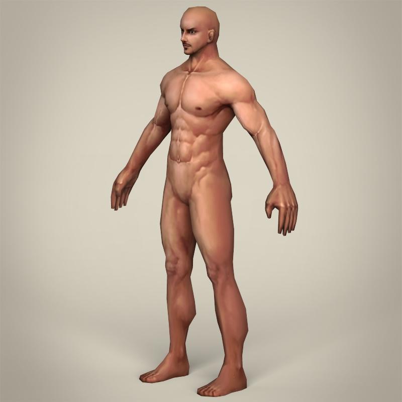 game ready realistic man 3d model 3ds max fbx c4d lwo ma mb obj 219790