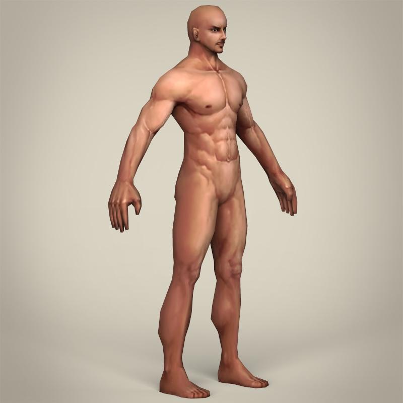 game ready realistic man 3d model 3ds max fbx c4d lwo ma mb obj 219794