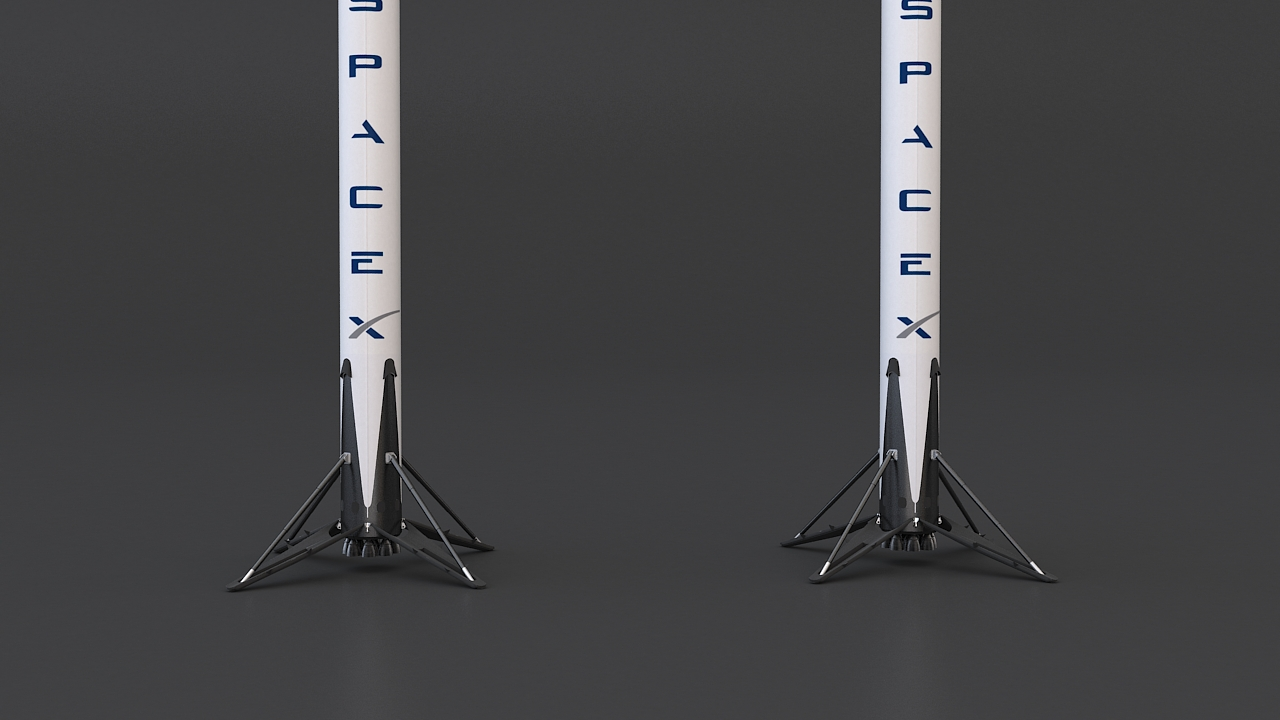 falcon 9 and dragon-v2 space craft 3d model max 219802