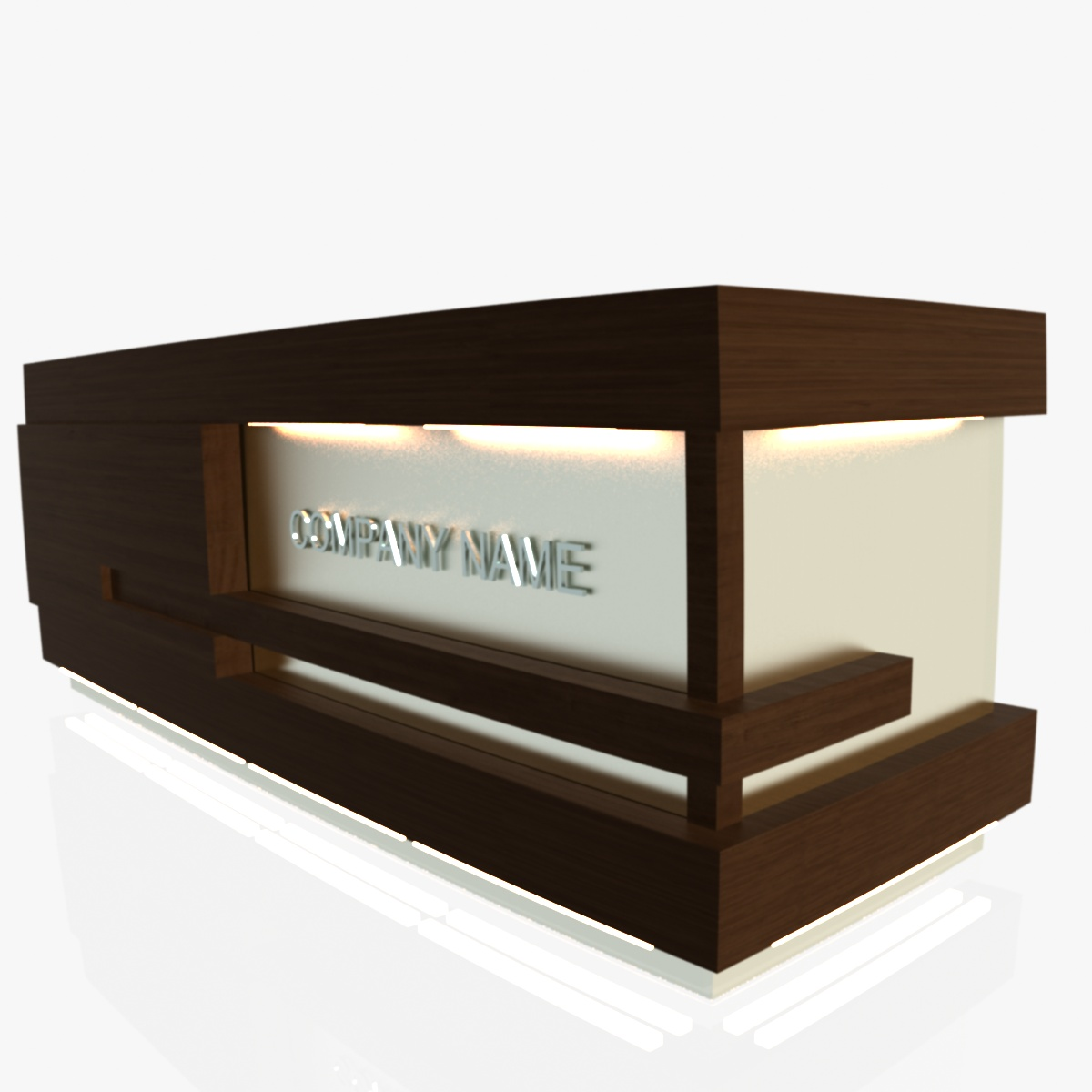 reception desk 1 3d model 3ds max dxf fbx  obj 219847