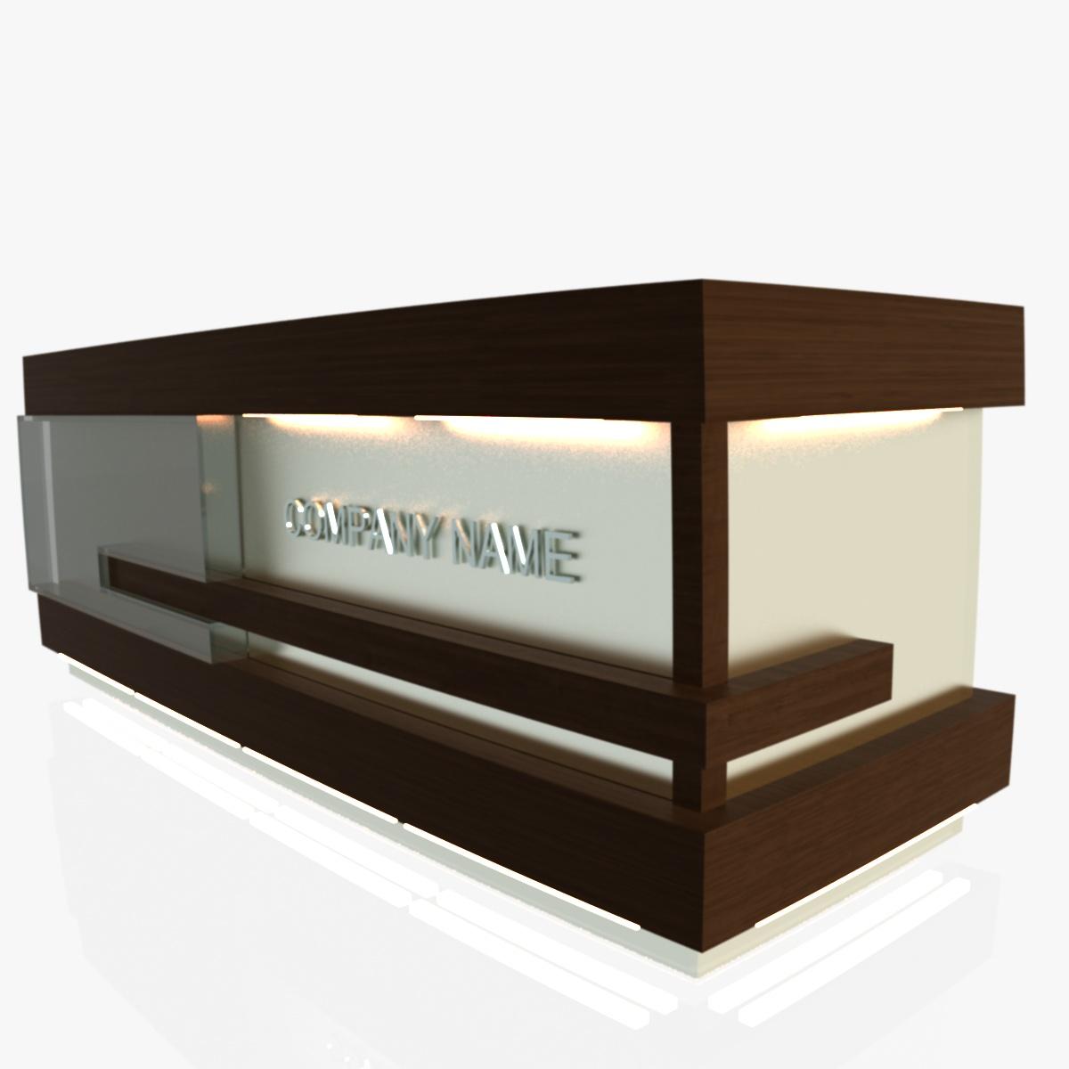 reception desk 1 3d model 3ds max dxf fbx  obj 219848