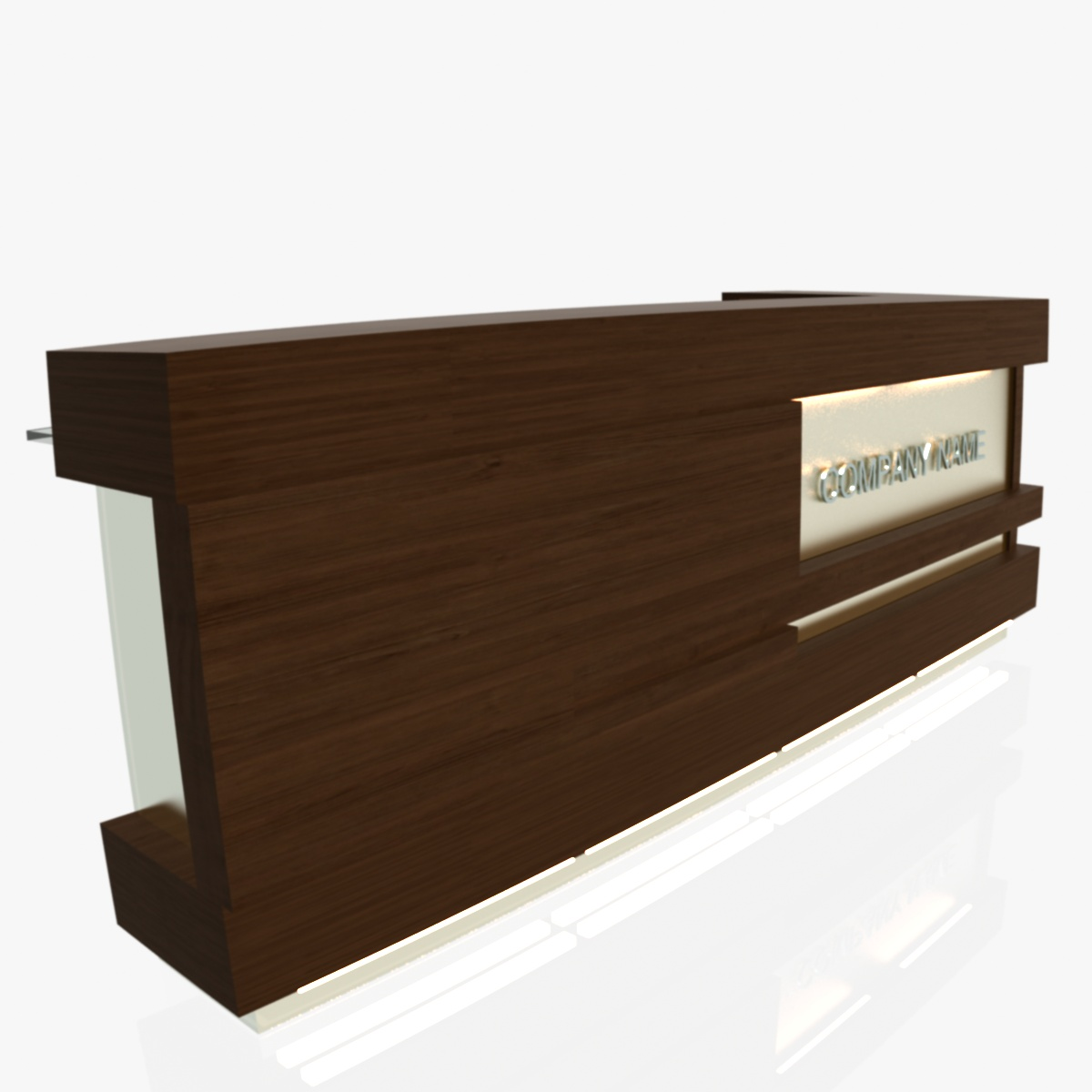 reception desk 1 3d model 3ds max dxf fbx  obj 219850
