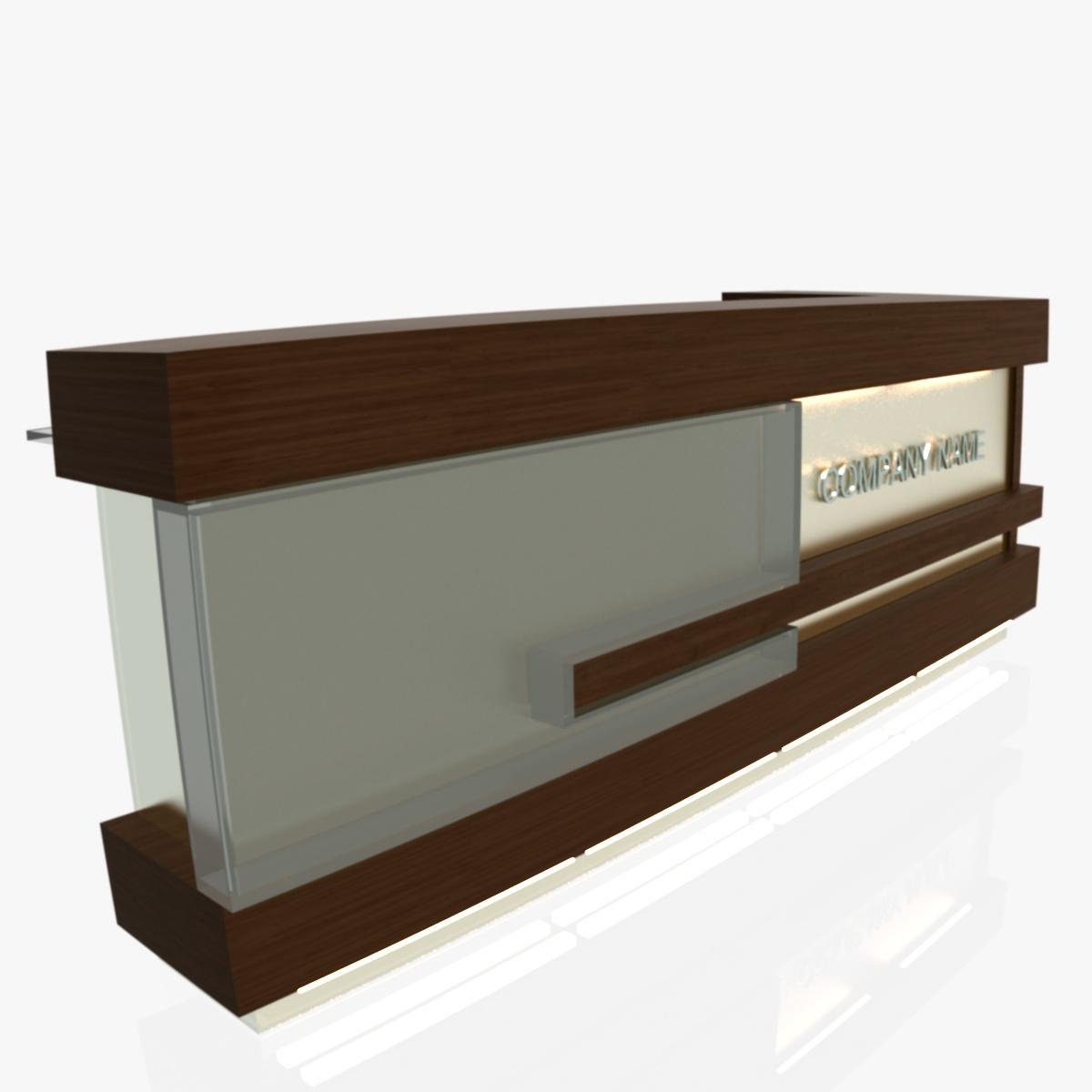 reception desk 1 3d model 3ds max dxf fbx  obj 219851