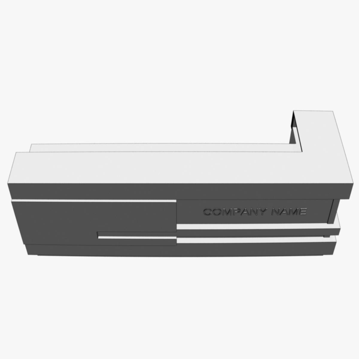 reception desk 1 3d model 3ds max dxf fbx  obj 219855