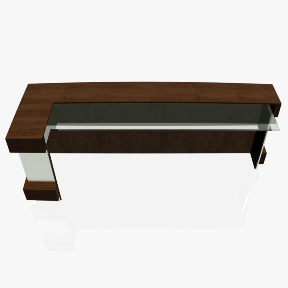 reception desk 1 3d model 3ds max dxf fbx  obj 219858
