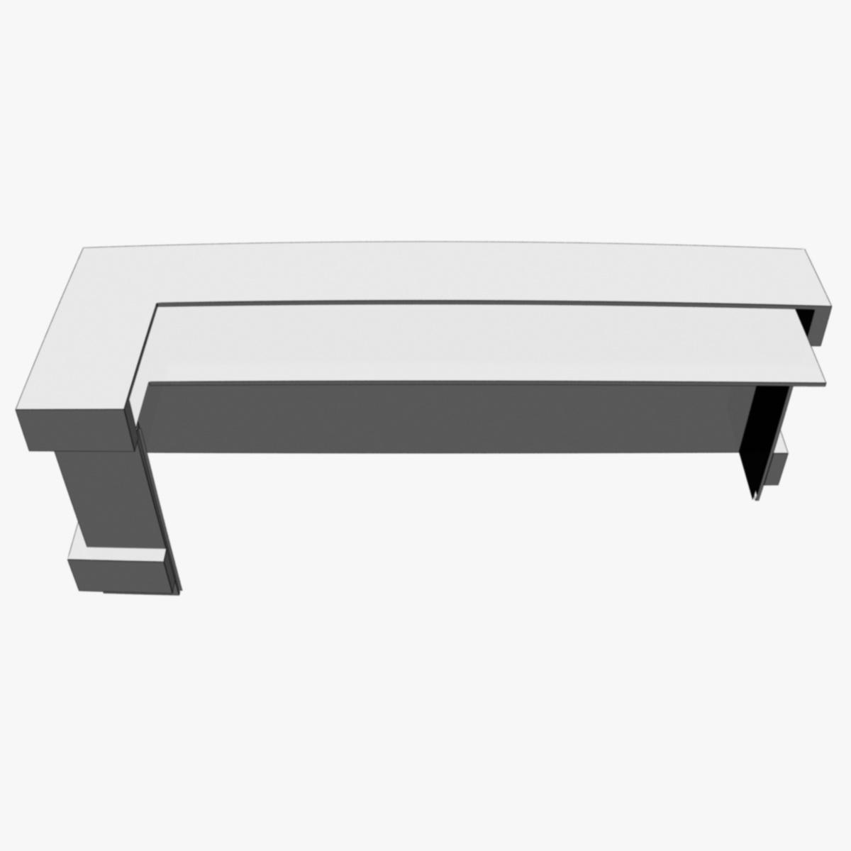reception desk 1 3d model 3ds max dxf fbx  obj 219859