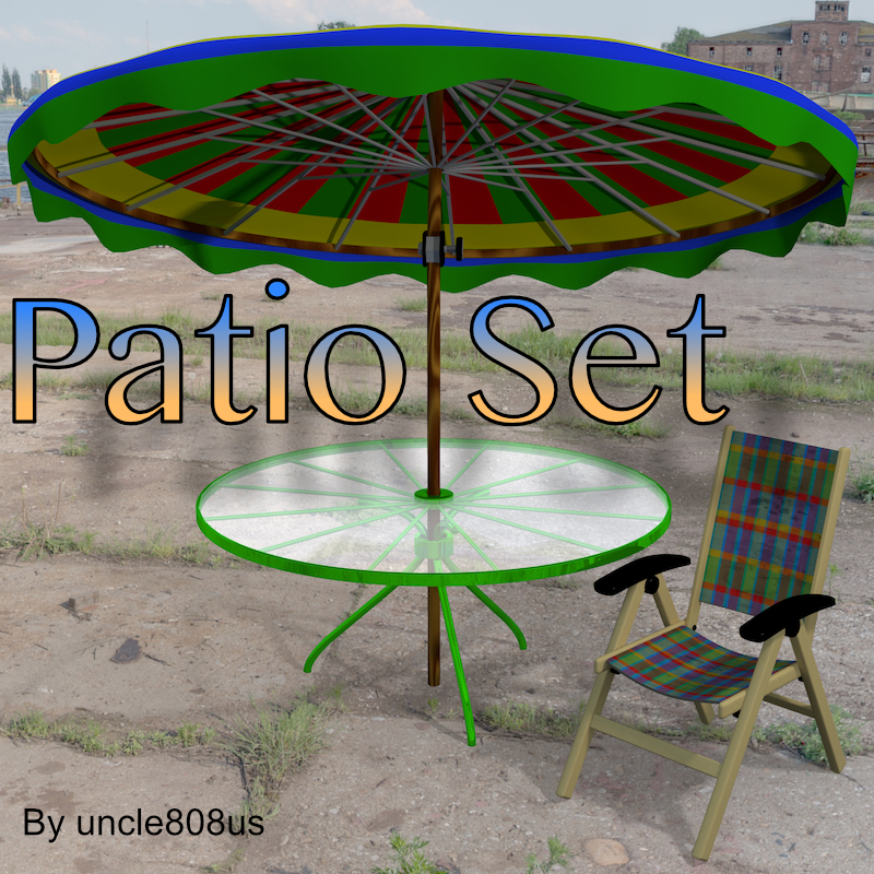 patio set fbx obj 3d model fbx 219863