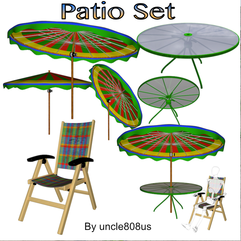 patio set fbx obj 3d model fbx 219864
