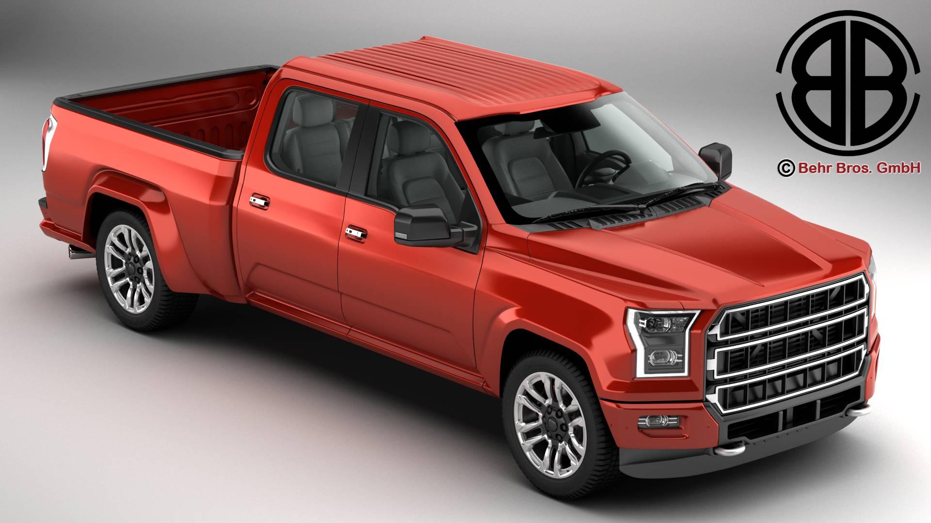 generic pickup 3d model 3ds max fbx c4d lwo ma mb obj 219867