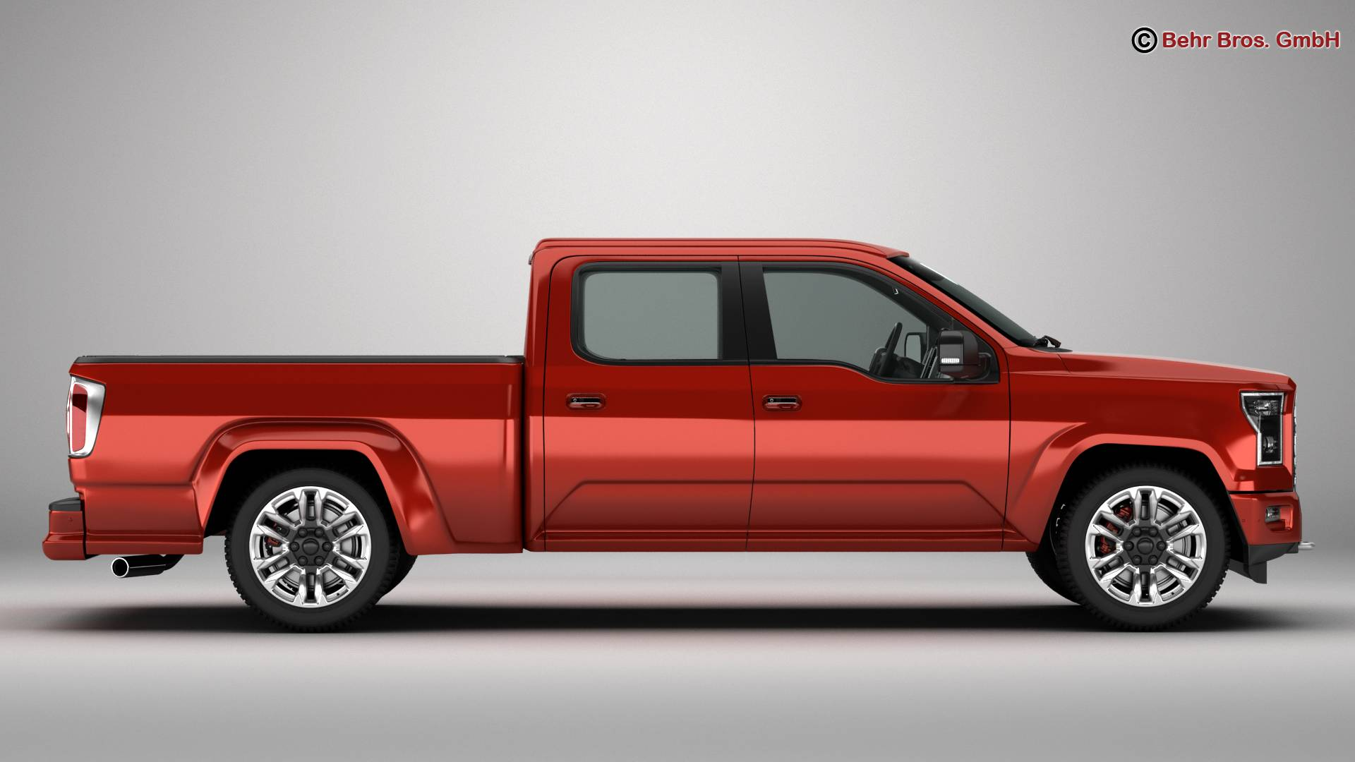 generic pickup 3d model 3ds max fbx c4d lwo ma mb obj 219872