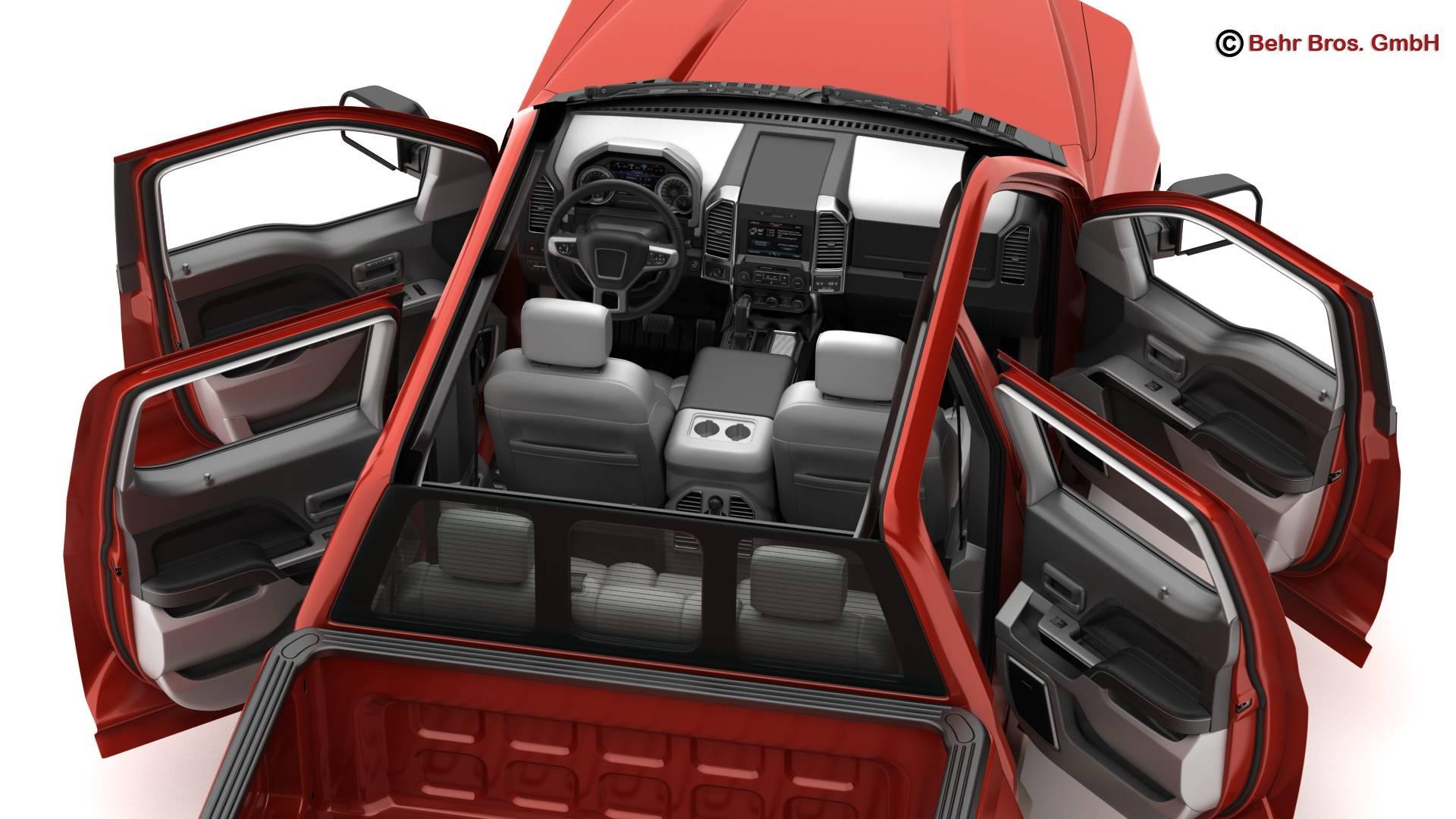 generic pickup 3d model 3ds max fbx c4d lwo ma mb obj 219879