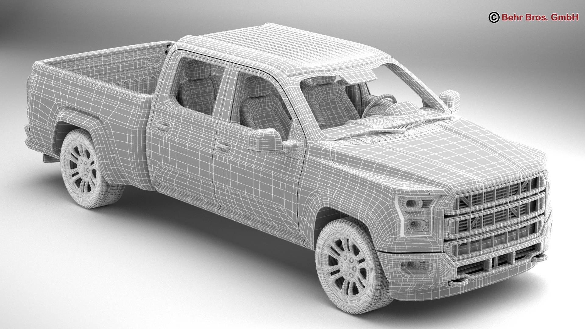 generic pickup 3d model 3ds max fbx c4d lwo ma mb obj 219882