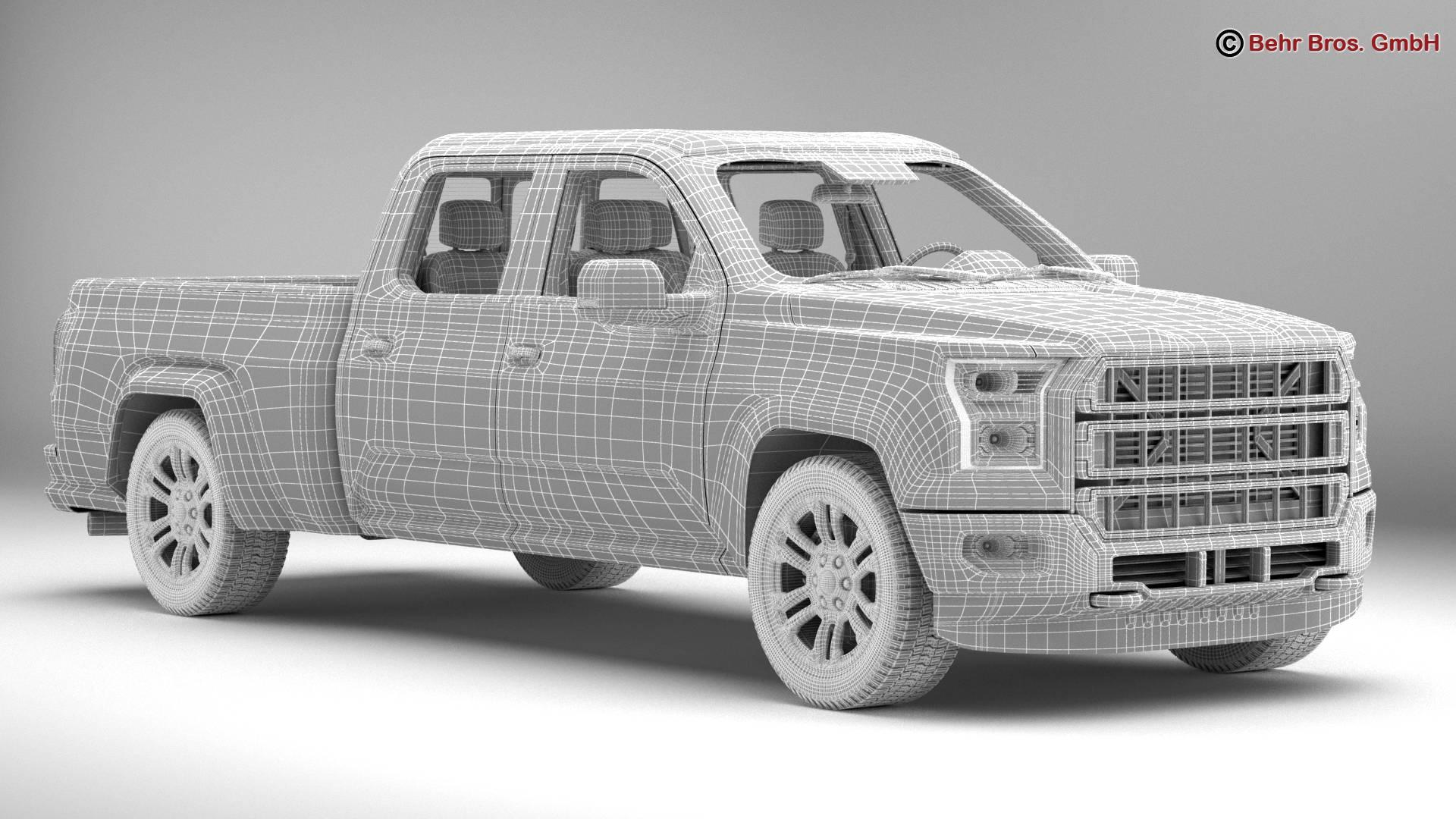 generic pickup 3d model 3ds max fbx c4d lwo ma mb obj 219883