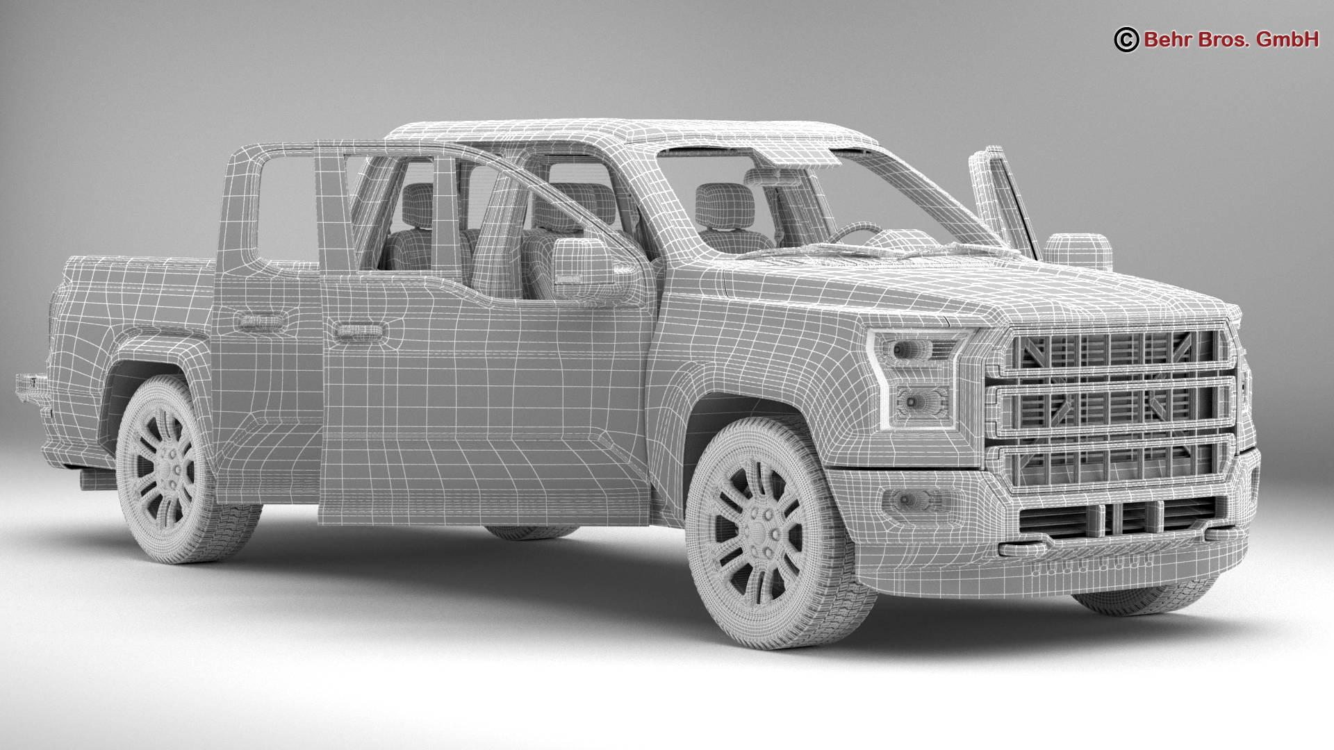 generic pickup 3d model 3ds max fbx c4d lwo ma mb obj 219884