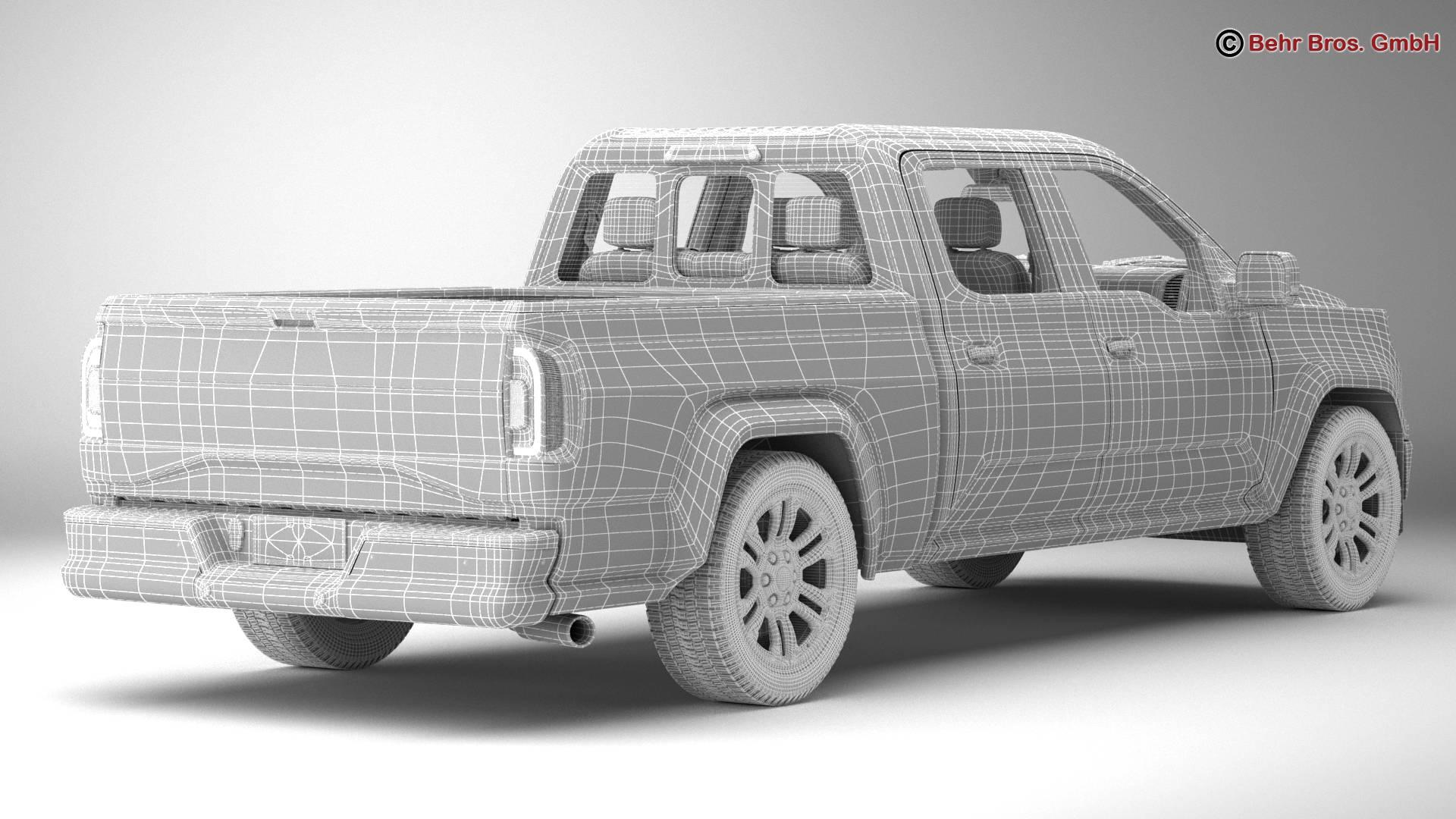 generic pickup 3d model 3ds max fbx c4d lwo ma mb obj 219885