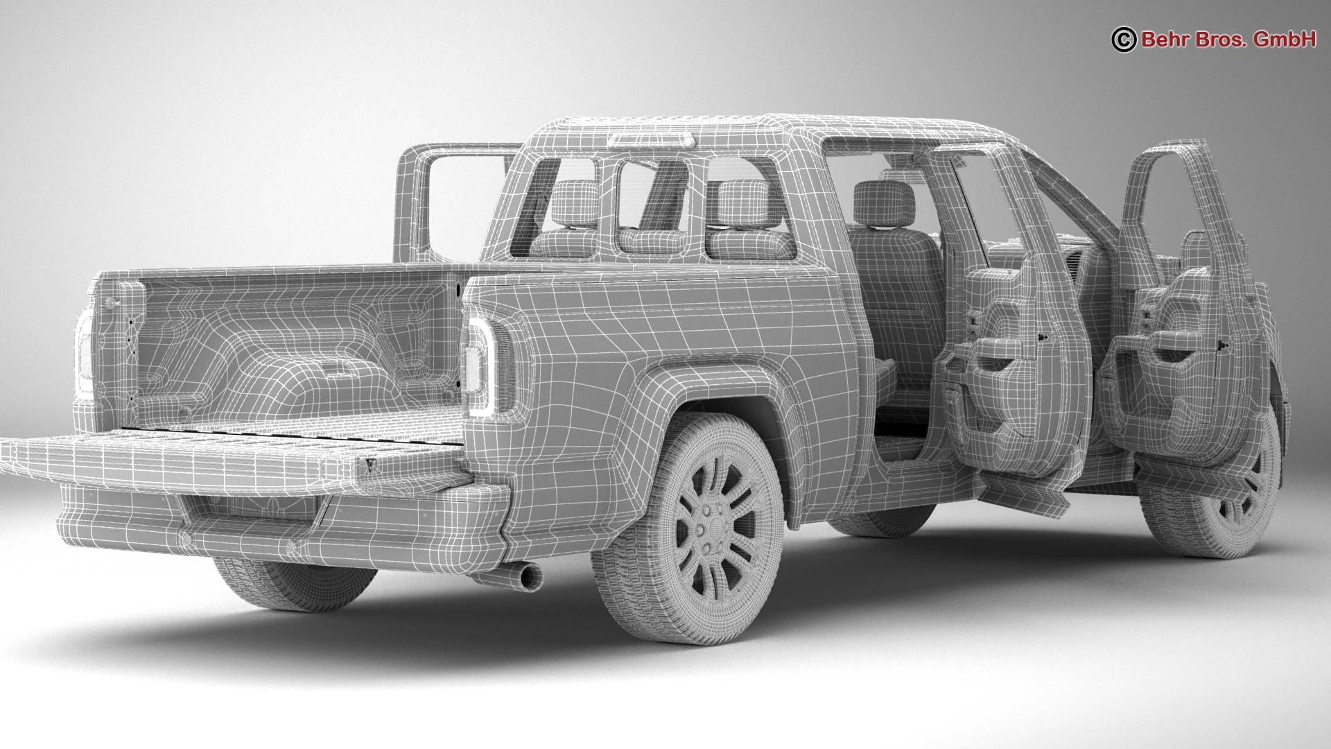 generic pickup 3d model 3ds max fbx c4d lwo ma mb obj 219886