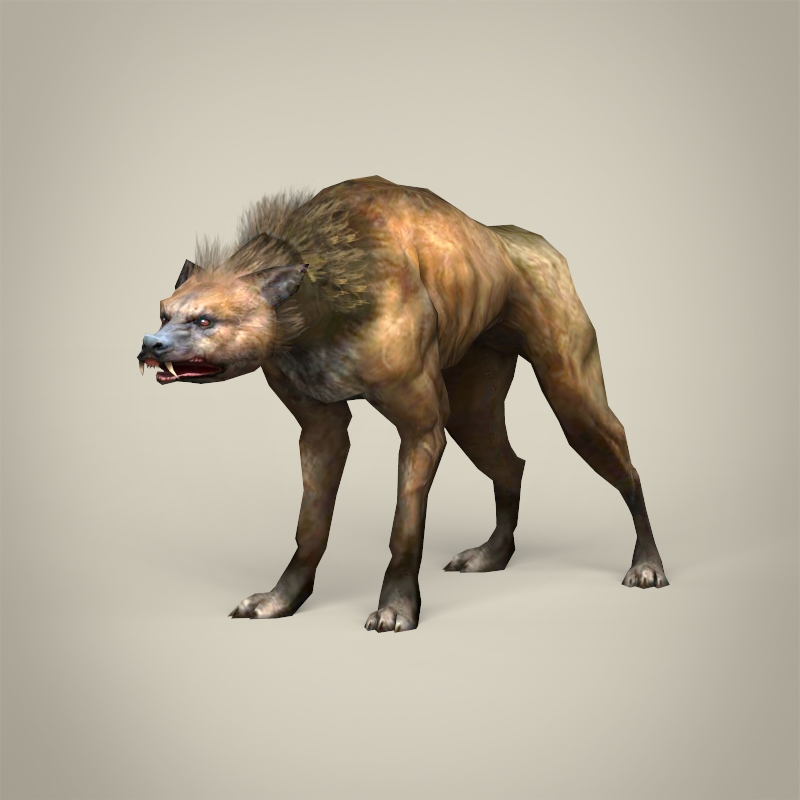 game ready fantasy hyena 3d model 3ds max fbx c4d lwo ma mb obj 219899