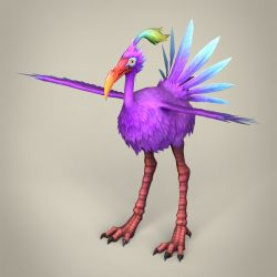 Game Ready Fantasy Bird Ibis 3d model 3ds max fbx c4d lwo lws lw ma mb obj