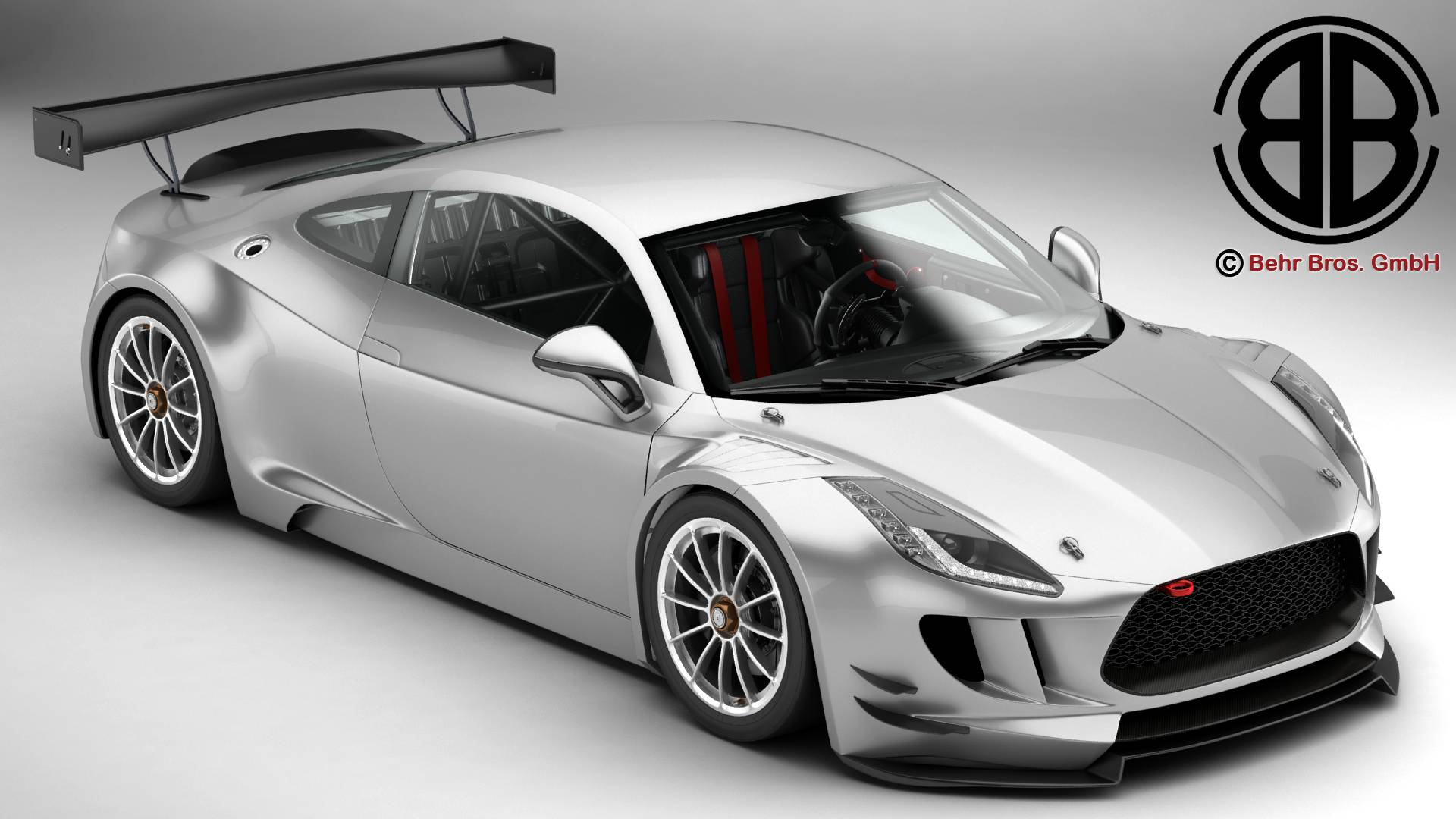 generic sports car gt3 3d model 3ds max fbx c4d lwo ma mb obj 219935