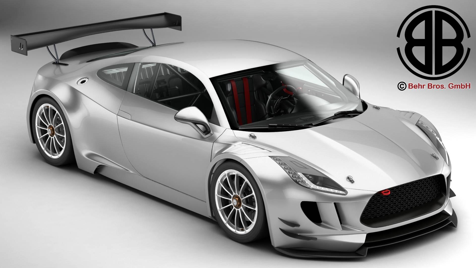 generic sports car gt3 3d model 3ds max fbx c4d lwo ma mb obj 219935