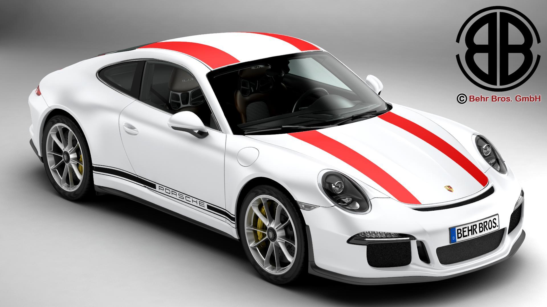 porsche 911 r 2017 3d model 3ds max fbx c4d lwo ma mb obj 219999