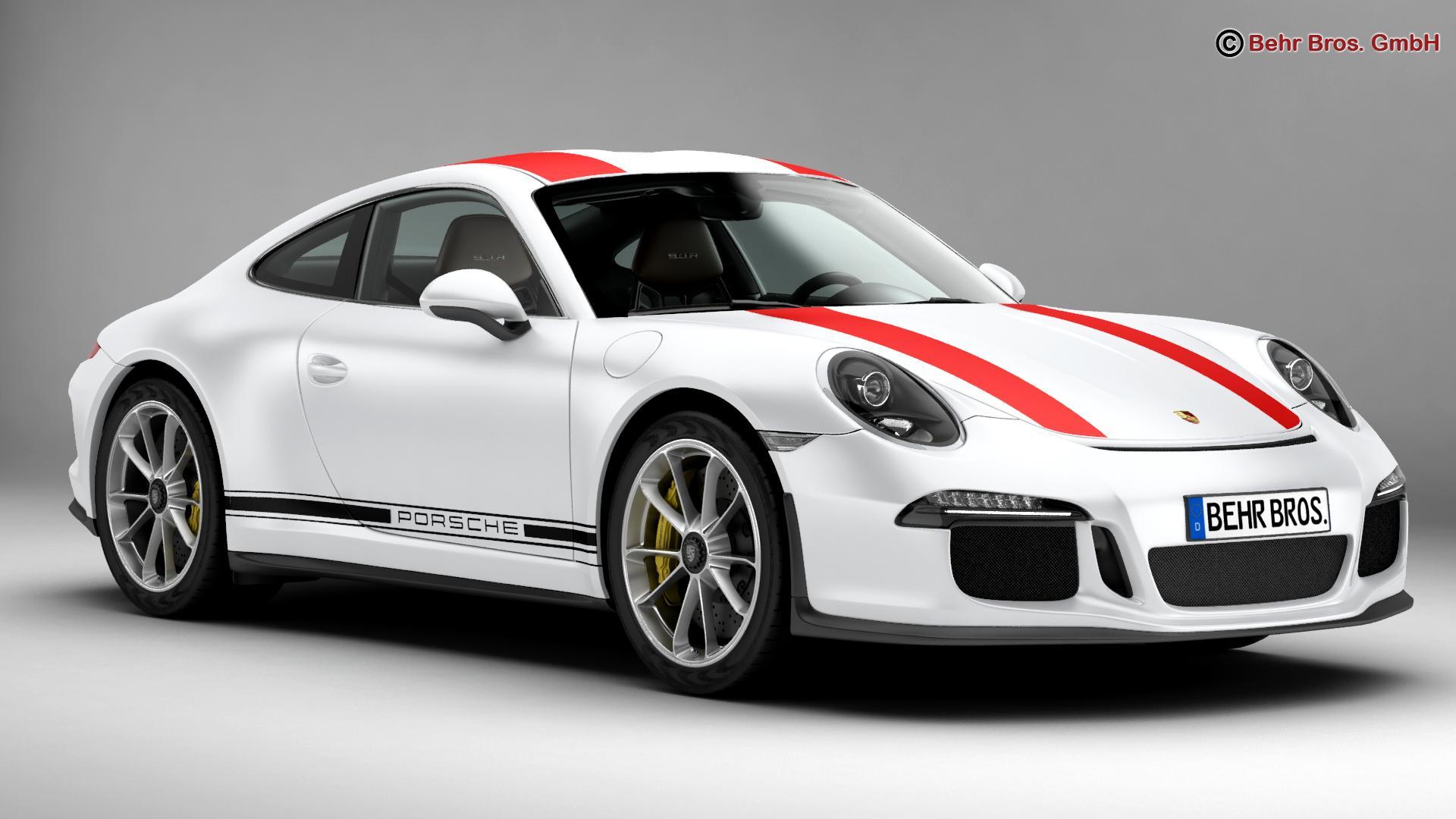 porsche 911 r 2017 3d model 3ds max fbx c4d lwo ma mb obj 220000