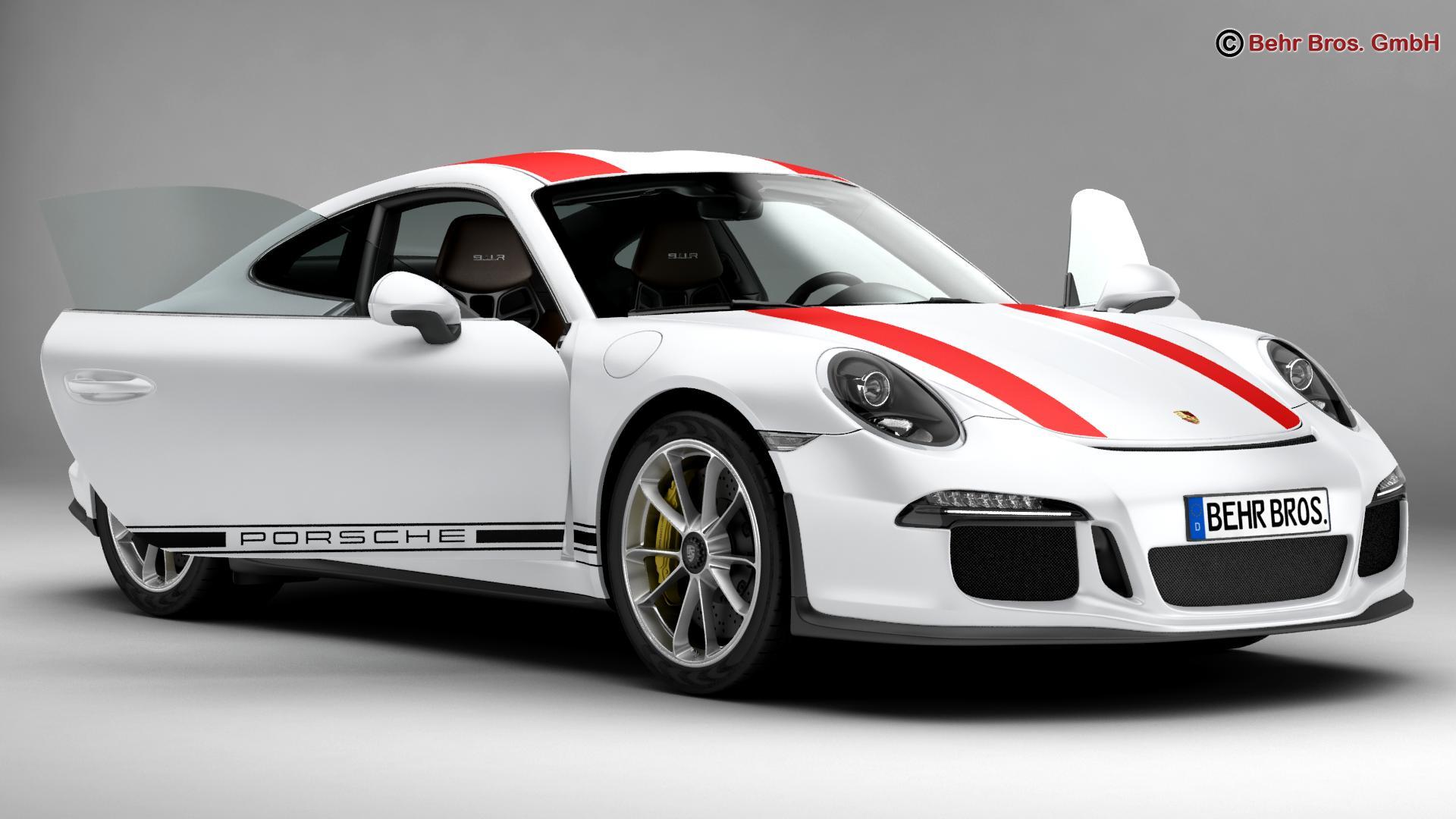 porsche 911 r 2017 3d model 3ds max fbx c4d lwo ma mb obj 220001