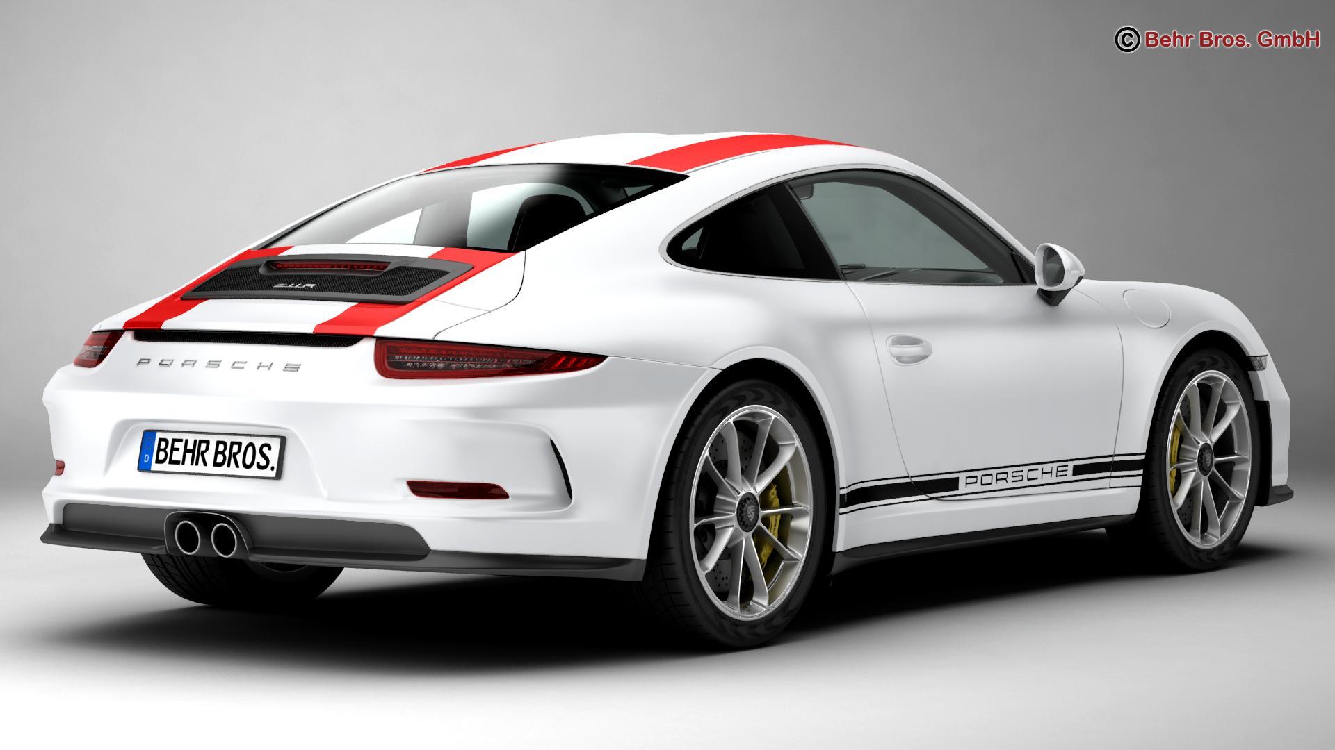 porsche 911 r 2017 3d model 3ds max fbx c4d lwo ma mb obj 220002