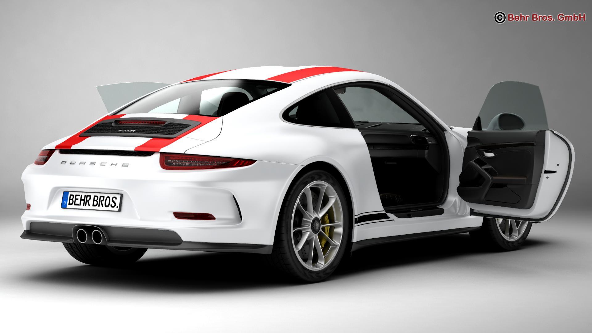 porsche 911 r 2017 3d model 3ds max fbx c4d lwo ma mb obj 220003