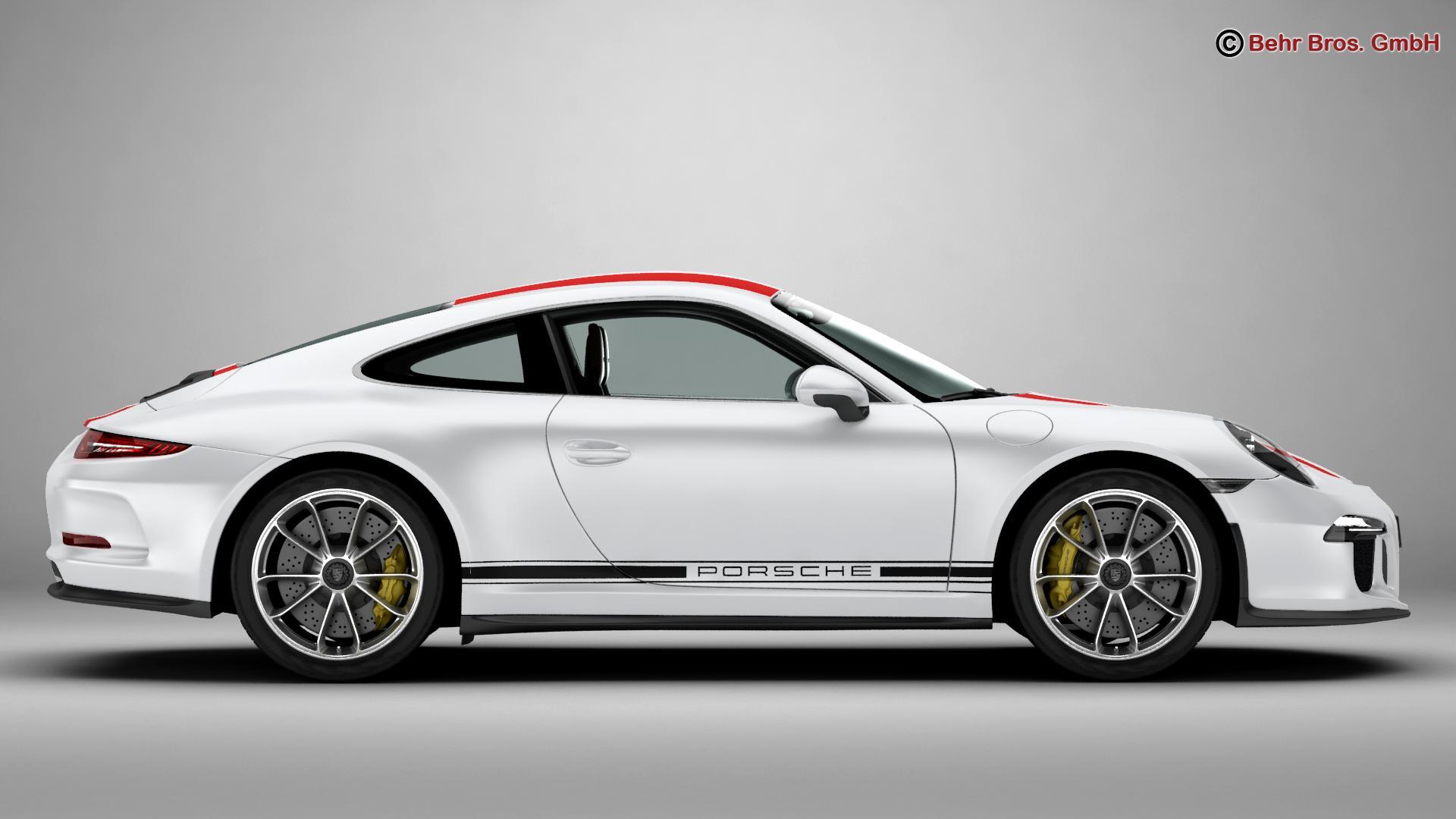porsche 911 r 2017 3d model 3ds max fbx c4d lwo ma mb obj 220004