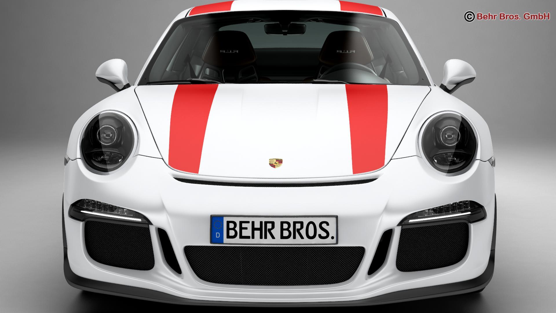 porsche 911 r 2017 3d model 3ds max fbx c4d lwo ma mb obj 220005