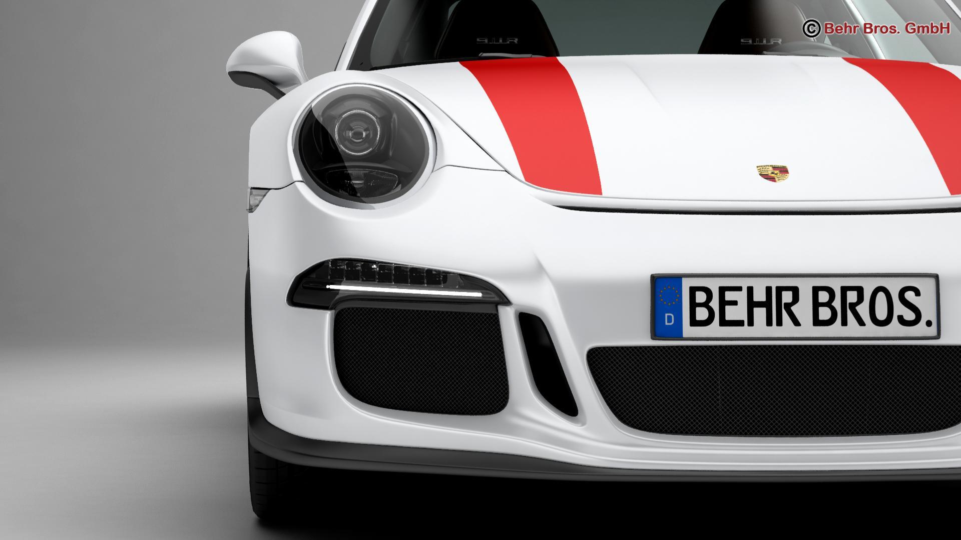 porsche 911 r 2017 3d model 3ds max fbx c4d lwo ma mb obj 220006