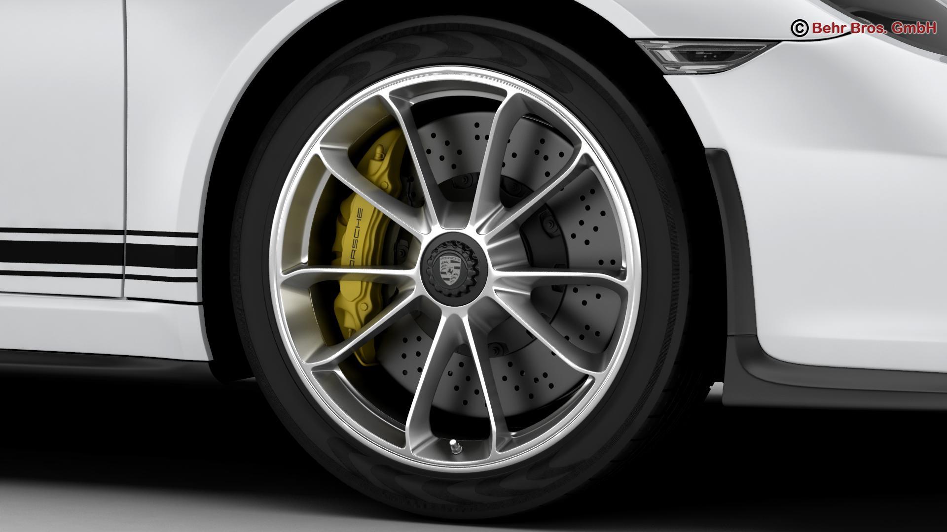 porsche 911 r 2017 3d model 3ds max fbx c4d lwo ma mb obj 220007
