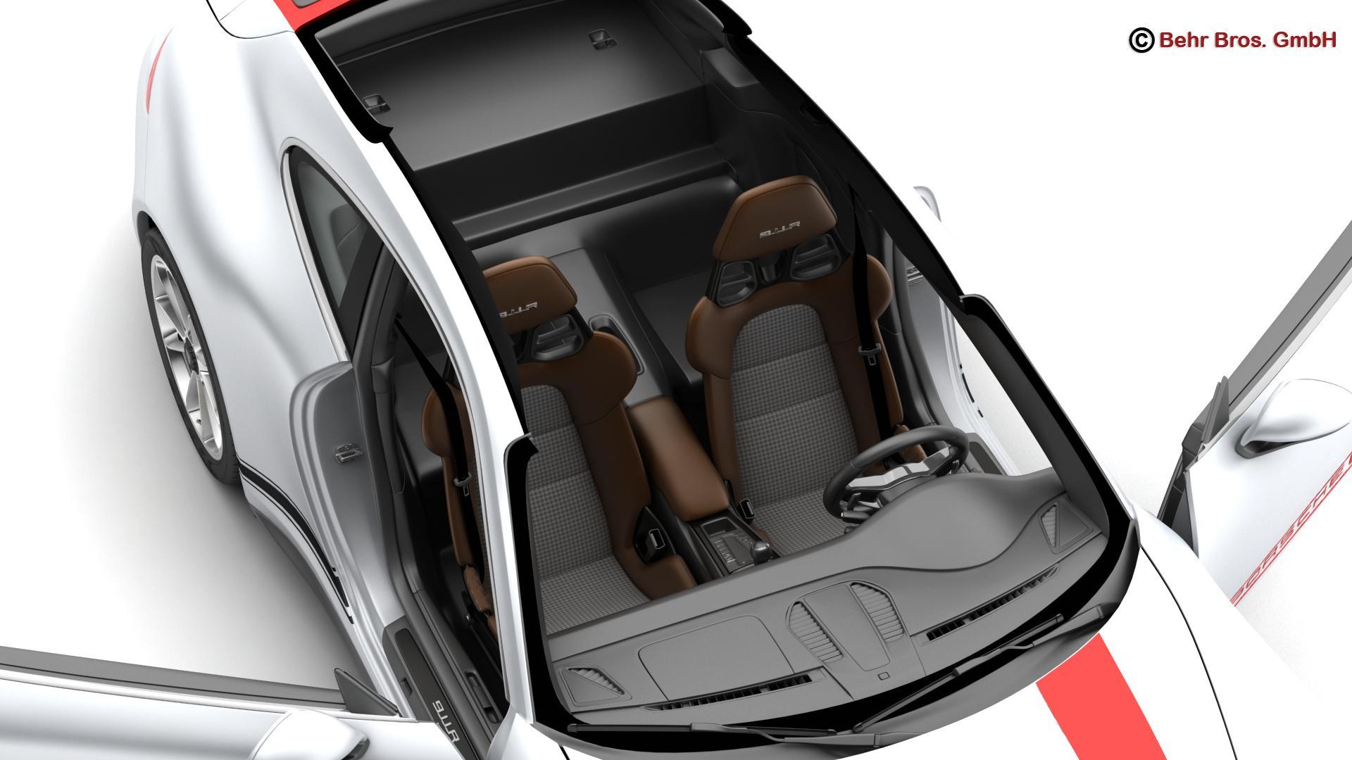 porsche 911 r 2017 3d model 3ds max fbx c4d lwo ma mb obj 220010