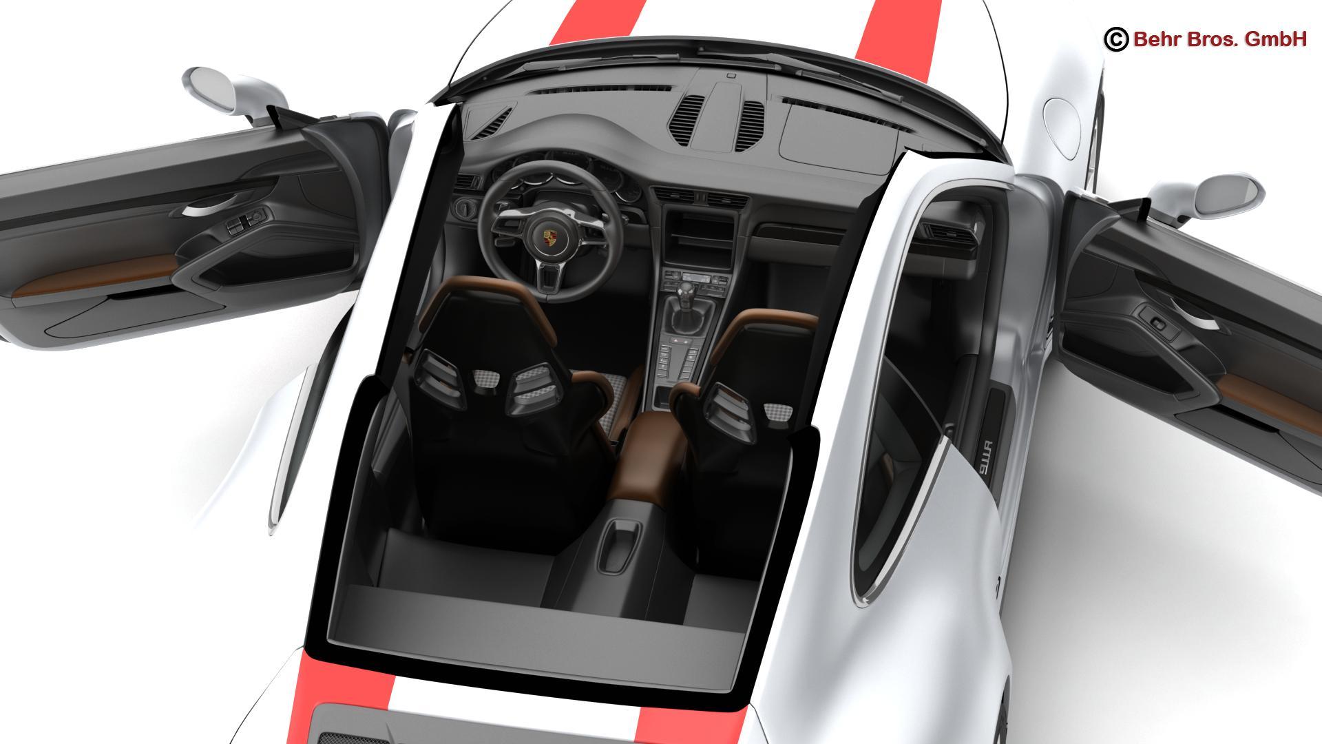 porsche 911 r 2017 3d model 3ds max fbx c4d lwo ma mb obj 220011